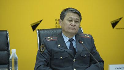 Архивное фото заместителя начальника Главного управления патрульной милиции МВД КР Саркулова Ыманалы