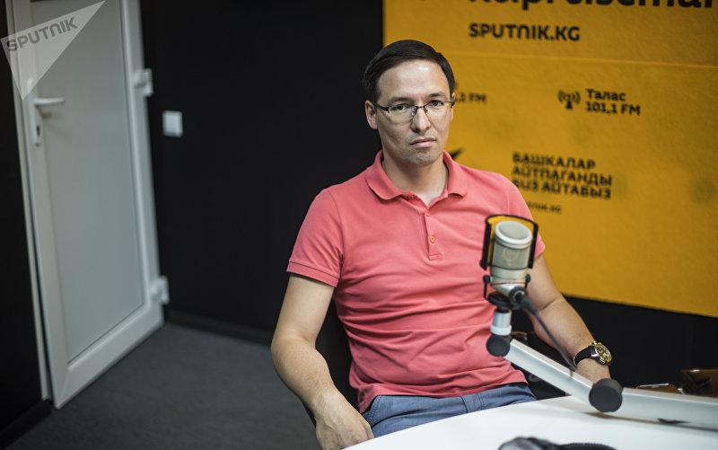 Президент Ассоциации операторов платежных систем Кыргызстана Руслан Алишев во время интервью Sputnik Кыргызстан