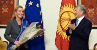 Алмазбек Атамбаев Европа биримдигинин тышкы иштер жана коопсуздук саясаты боюнча жогорку өкүлү Федерика Могерини менен жолугушту