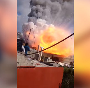 Мощный взрыв на заводе фейерверков в Мексике попал на видео