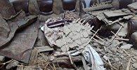Бетонная плита упала на жилой дом в селе Новопавловка