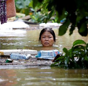 Последствия тайфуна Дамри в Вьетнаме. Архивное фото