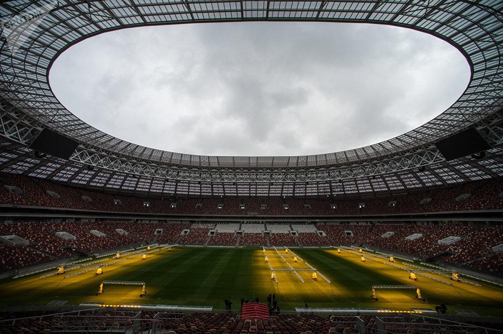 Инспекционный визит делегации FIFA и оргкомитета Россия-2018 на стадион Лужники