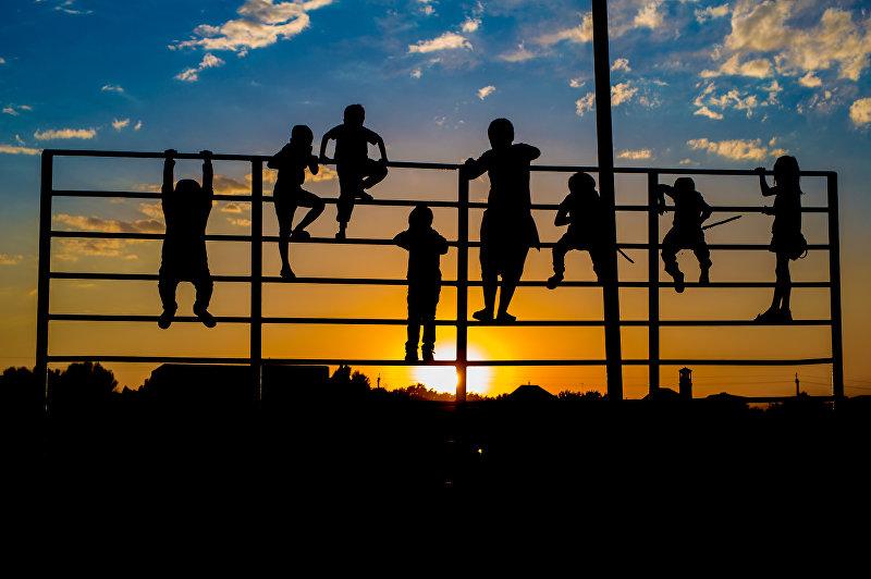 Дети на снимке фотографа Наиля Насритдинова