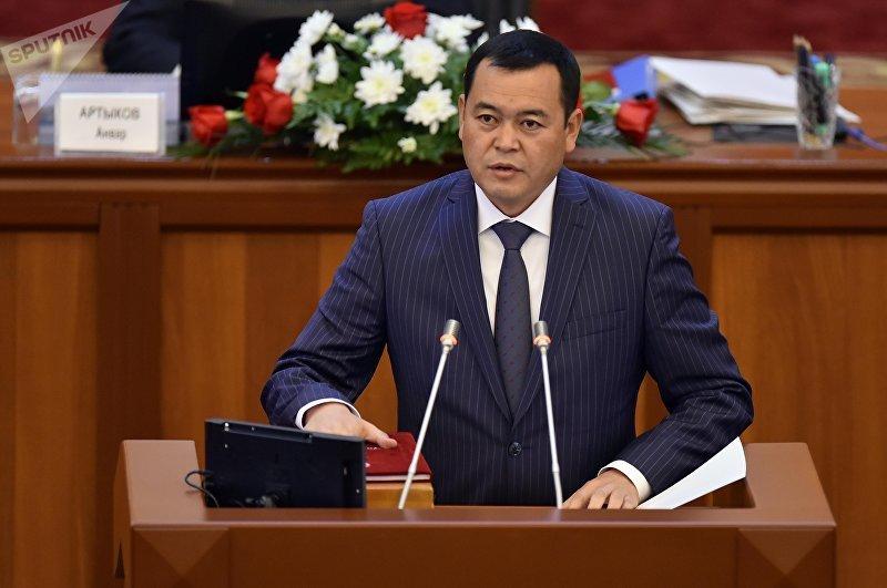 Депутат ЖК 6 созыва Мирлан Бакиров от партии Онугуу-Прогресс. Архивное фото