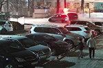 Бишкекте айдоочуларга жай жүрүүнү эскерткен таблону унаа талкалап кетти. Видео