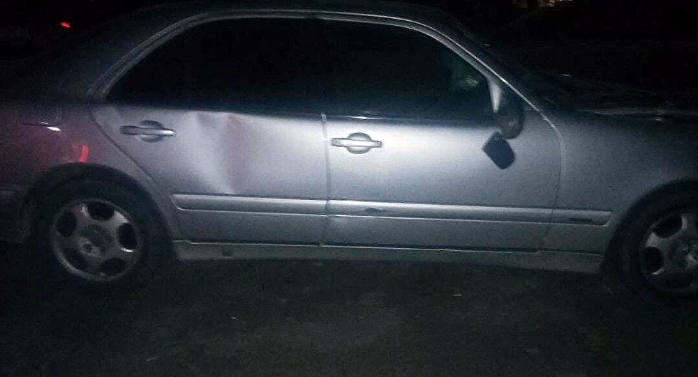 Автомобиль Mercedes Benz на котором был совершен смертельный наезд в селе Военно-Антоновка