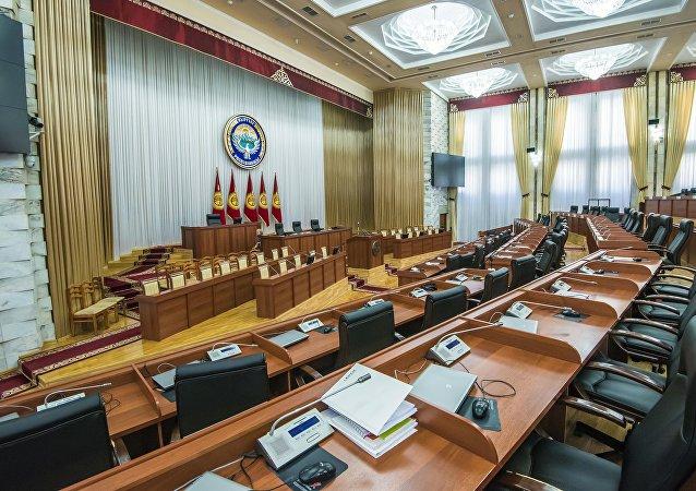 Зал заседания Жогорку Кенеша. Архивное фото