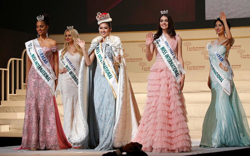 Победительница и призеры конкурса Miss International