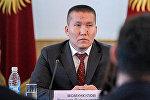 Премьер-министр Кыргызской Республики Сапар Исаков и Момункулов Эсенкул Дуйшонкулович, назначенный директором Агентства по продвижению и защите инвестиций Кыргызской Республики