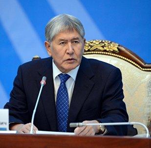 Экс-президент, председатель Социал-демократической партии Кыргызстана Алмазбек Атамбаев. Архивное фото