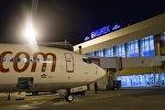 Самолет в взлетной полосе международного аэропорта Манас. Архивное фото