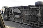 На объездной дороге в районе Канта произошло дорожно-транспортное происшествие с участием трех автомобилей