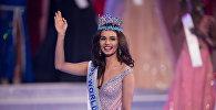 Мисс Индия Мануши Чхилар побеждает в финале 67-го конкурса Мисс Мира в Санье, на тропическом китайском острове Хайнань. 18 ноября 2017 года