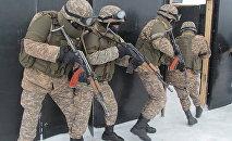 Военнослужащие Казахстана на антитеррористических учениях. Архивное фото