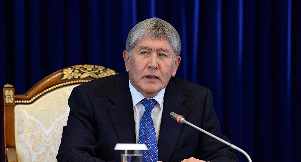 Архивное фото президента Кыргызстана Алмазбека Атамбаева