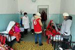 Гуманитарная помощь 11 памирским кыргызам, временно прибывшим в Нарын