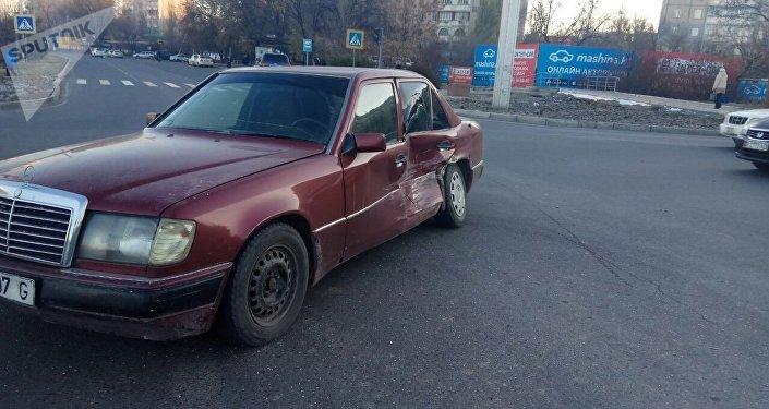 ДТП на пересечении улиц Токомбаева и Жукеева Пудовкина