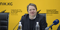 Международный гроссмейстер, претендент на первенство мира Найджел Шорт на пресс-конференции в мультимедийном пресс-центре Sputnik Кыргызстан