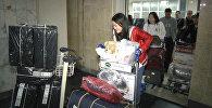Участниц шоу Ты супер! встретили в Бишкеке цветами и подарками