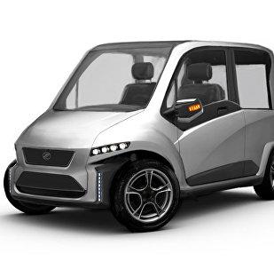 Макет первого российского автомобиля, управляемого силой мысли