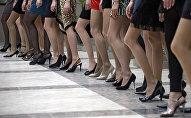 Репетиция Венского бала для участниц конкурса Мисс Россия 2010