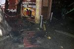 Пожар в доме на пересечении улиц Уметалиева и Чокморова в Бишкеке