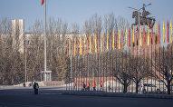 Вид на площадь Ала-Тоо в центре Бишкека. Архивное фото