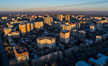 Бишкектеги көп кабаттуу имараттар. Архивдик сүрөт