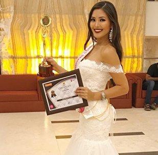 Кыргызстанская модель и телеведущая Айжамал Осмонова