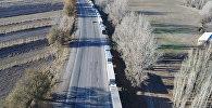 Пролетая над 500 фурами — видео очереди на границе с Казахстаном
