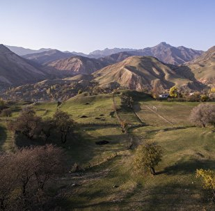Жалал-Абад облусундагы айыл. Архивдик сүрөт