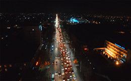 Вечерняя пробка из-за черной пятницы в Бишкеке — аэросъемка