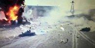 Нападение джихад-мобиля на танк — видео из Ирака