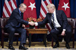 Түркиянын президенти Режеп Тайип Эрдоган америкалык кесиптеши Дональд Трамптын архивдик сүрөтү