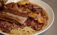 Национальное блюдо бешбармак. Архивное фото