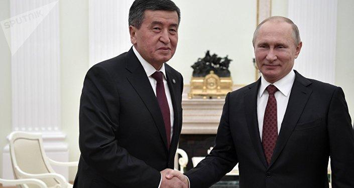 Кыргызстандын президенти Сооронбай Жээнбеков менен Россиянын лидери Владимир Путин Кремлде тар чөйрөдө жолугушту