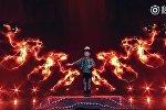 Маленький манасчи произвел фурор на шоу талантов в Китае — эффектное видео