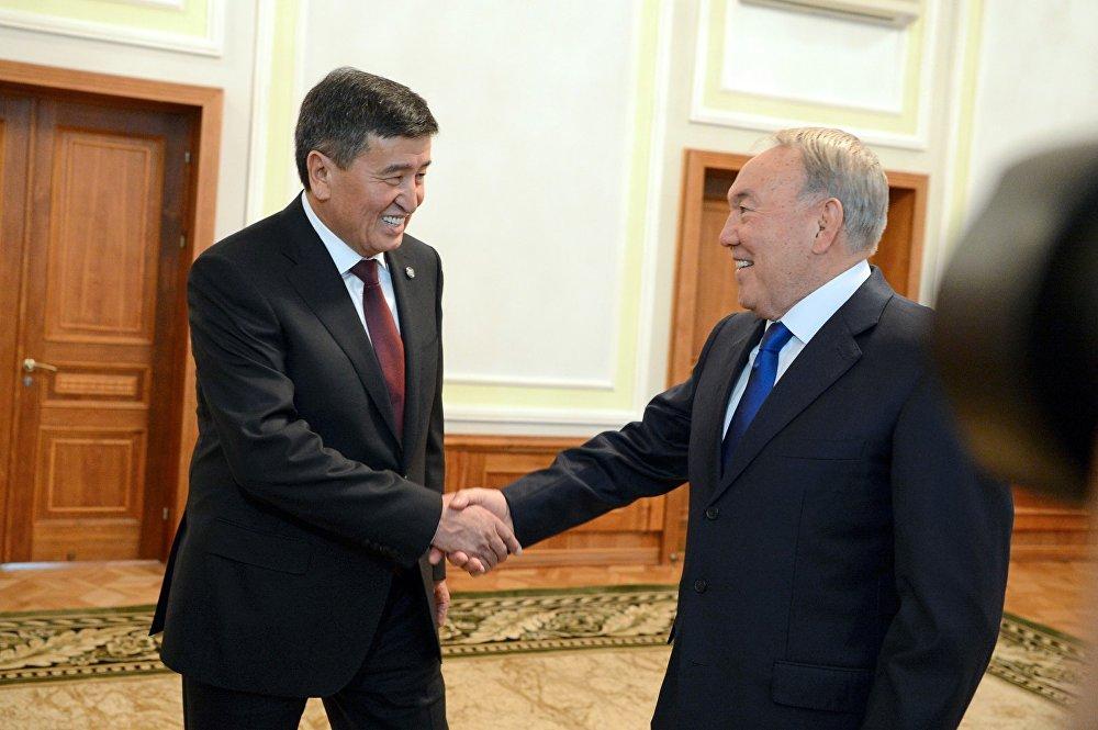 Ал жактан Казакстандын президенти Нурсултан Назарбаев менен жолугуп, кыргыз-казак чек арасындагы маселелер боюнча пикир алышты