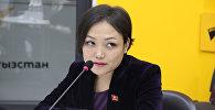 Депутат Жогорку Кенеша Аида Касымалиева. Архивное фото