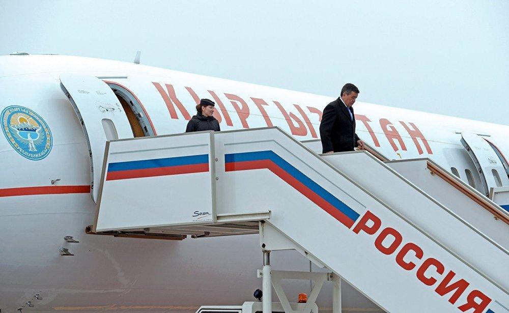 КР президенти өзүнүн чет жакка болгон алгачкы сапарын Россиядан баштады