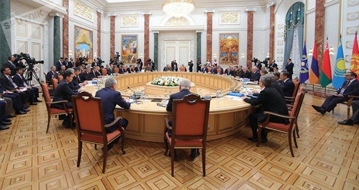 Заседание Совета коллективной безопасности Организации Договора о коллективной безопасности (ОДКБ) в расширенном составе. Архивное фото