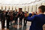Ветераны из Казахстана и Кыргызстана на Балу Победителей в Центральном музее Великой Отечественной войны на Поклонной горе в Москве.