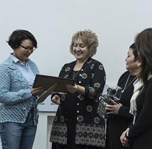 Церемония награждение победителей конкурса Продвижение гендерного равенства в Кыргызской Республике