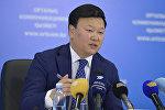 Архивное фото первого вице-министра здравоохранения РК Алексея Цоя