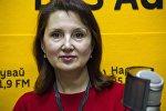 Кандидат медицинских наук, президент Ассоциации по остеопорозу, доцент Ольга Лобанченко во время интервью на радио Sputnik Кыргызстан. Архивное фото