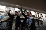 Боевики хуситы в Сане. Йемен. Архивное фото