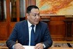 Министр внутренних дел Улан Исраилов на приеме у президента КР Сооронбая Жээнбекова