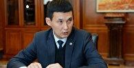 Архивное фото секретаря Совета безопасности КР Алмазбека Курманалиева