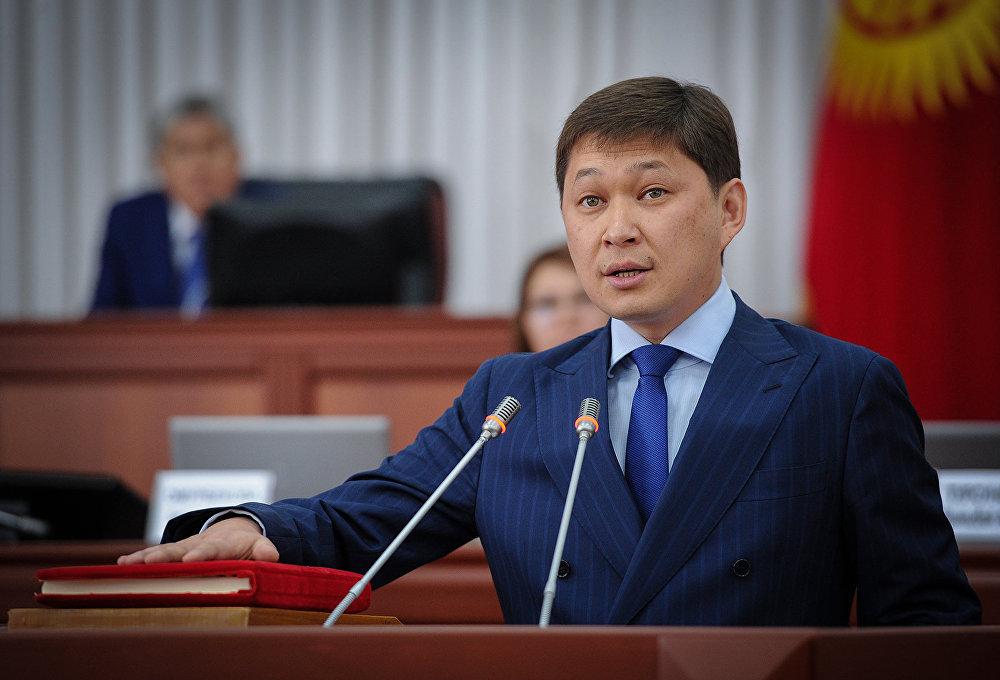 Сапар Исаков Кыргызстандын 29-премьер-министри. Ант берүү учуру